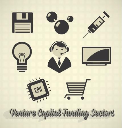 Vector Set: Venture Capital Funding Icons
