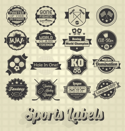ベクトル セット: 混合スポーツ シンボルとアイコン  イラスト・ベクター素材