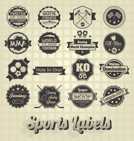 guante de beisbol: Vector Set: Símbolos e iconos deportivos mixtos