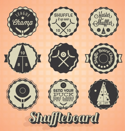 Shuffleboard Labels and Icons