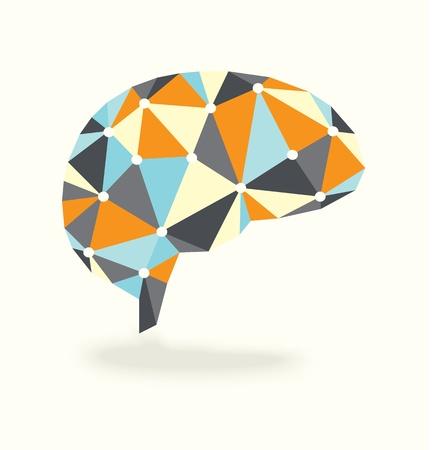 sistema nervioso central: Vector actividad cerebral es Retro Design
