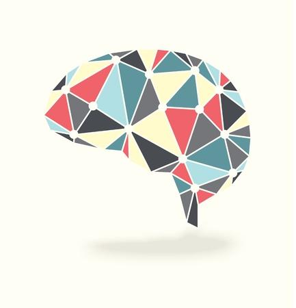 anatomy brain: Vector Brain Activity Abstract Design