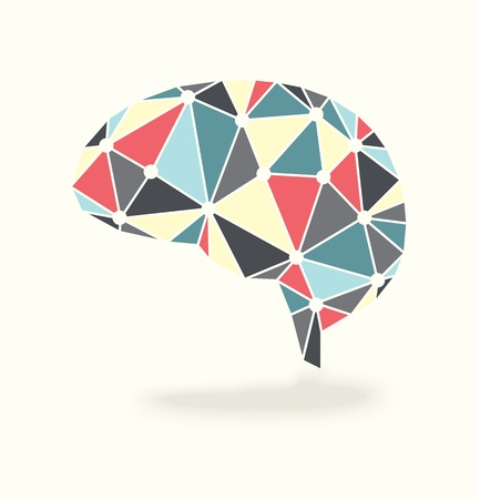 Vector Brain Activity Abstract Ontwerp Stock Illustratie