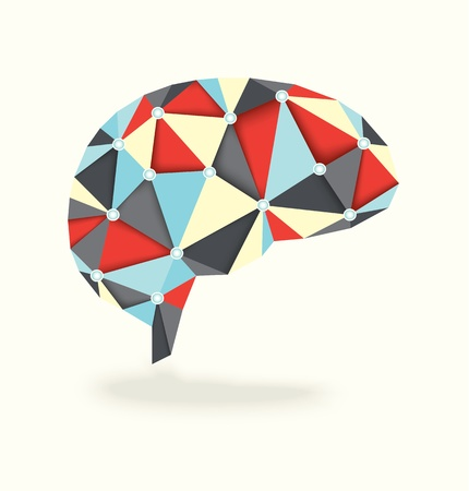3D Brain Activity Vector Stock Illustratie