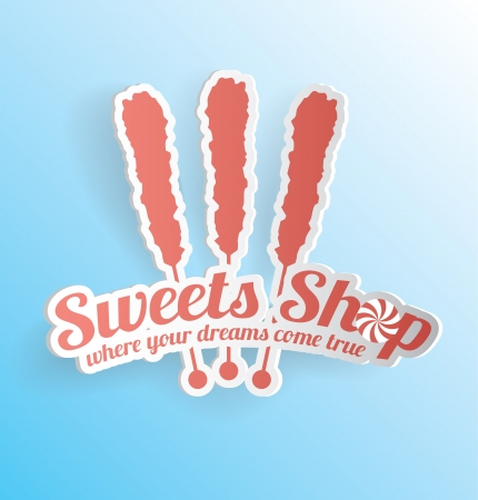 3D Sweets Shop Vector Label Stock Vector - 19969657