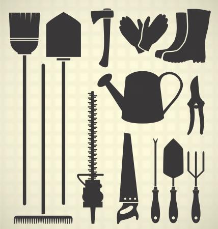 Gardening Tool Silhouettes