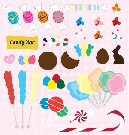 süssigkeiten: Set von Candy Pieces