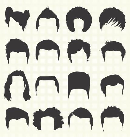 Men s Elementos Peinado Foto de archivo - 20229762