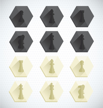 Vector Set  Dimensional Chess Piece Icons