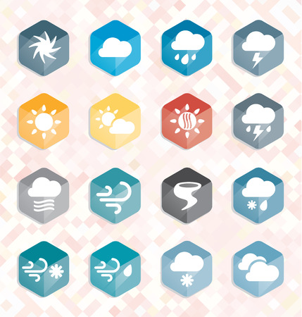 Vector Set  Weather Web Icons and Buttons