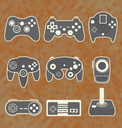 Vector Se  Retro Video Game Controllers