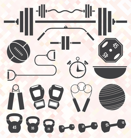 Gym and Workout Equipment Vector