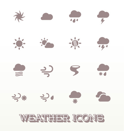 Modern Weather Icons Illustration