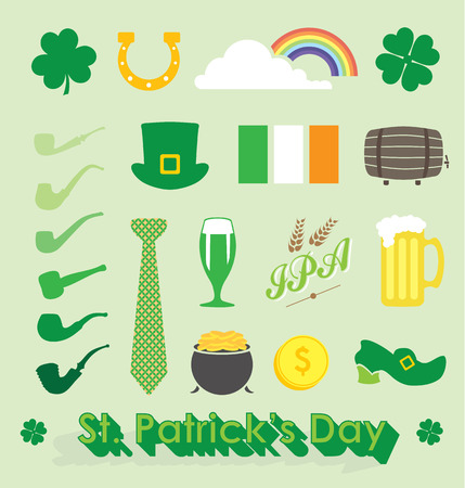 Set of St Patricks Day Icons and Symbols Vector