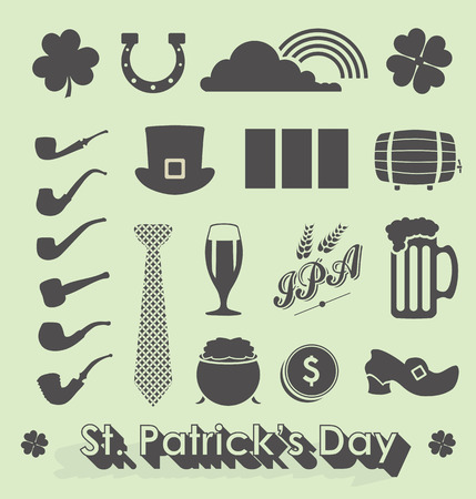 Set of St Patrick's Day Icons and Symbols Vector
