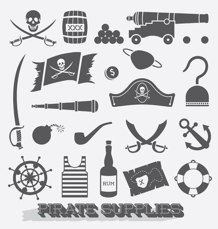 해적 아이콘을 설정 및 기호 용품