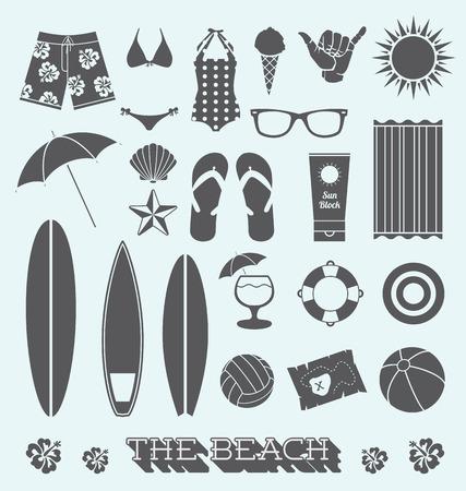 Set of Under the Sun Beach Icons