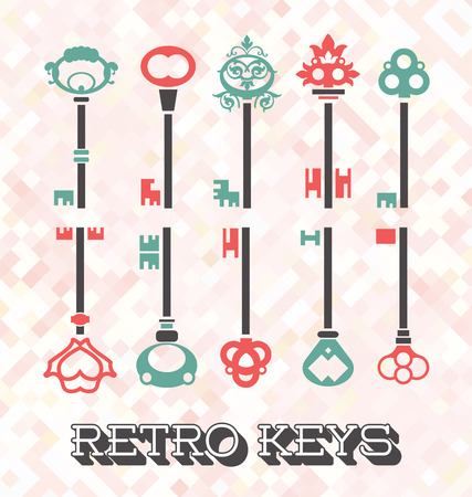 Vector Set of Retro Keys Vector