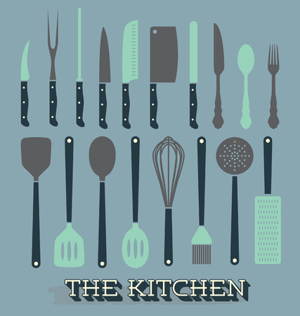 Vector Set of Kitchen Supplies Vector