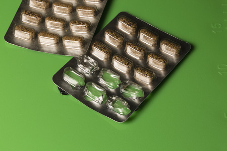 herbal remedy: Herbal Remedy capsules in Blister packs with some sections empty