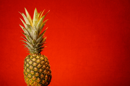 Whole Pineapple against a warm colorful background