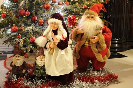 señora: Santa Claus y la señora Claus Foto de archivo