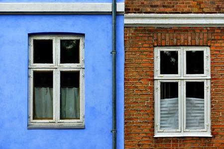 case colorate: Tipiche case colorate in Danimarca,