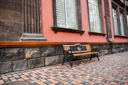 Beautiful bench in square, Yerevan
