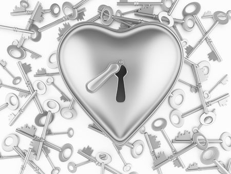 Heart on the lock Stock Photo