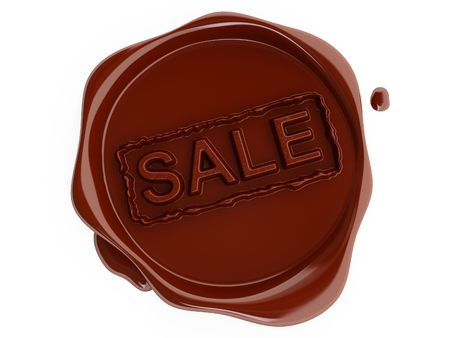 Red wax sale label