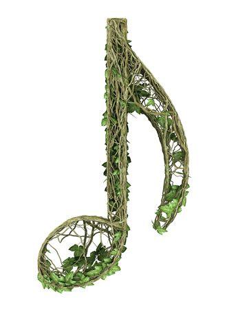 Ivy nature music symbol