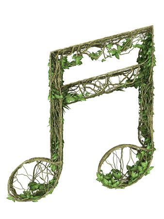 Ivy nature music symbol