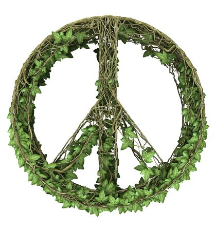 Ivy nature peace symbol  Stock Photo