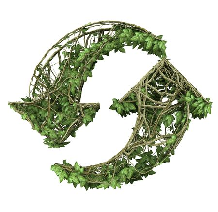 ivy nature recycled symbol