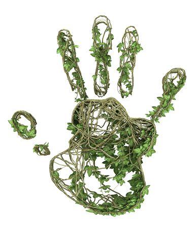 Ivy nature handprint