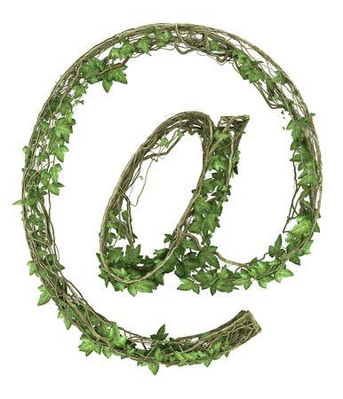 Ivy nature mail symbol  Stock Photo