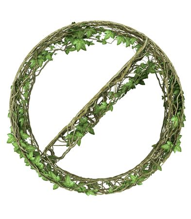 Ivy nature forbidden symbol  Stock Photo