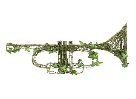 Ivy nature music instruments Stock Photo