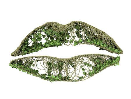 ivy nature lip print  Stock Photo