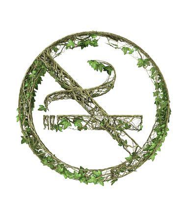 Ivy nature no smoking symbol  Stock Photo