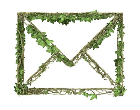 Ivy nature letter Stock Photo - 6512913