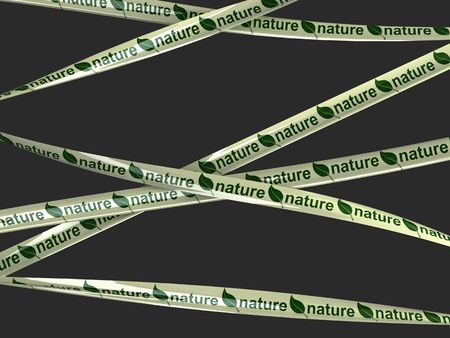 Green leaf nature tape