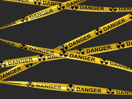hazard tape: Nuclear danger tape  Stock Photo
