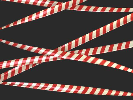 caution red tape  Stock Photo