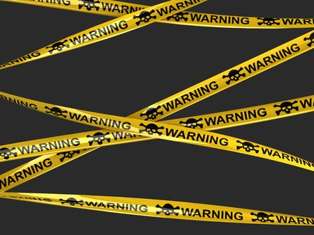 hazard tape:  Skull warning tape