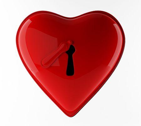 Lock red heart