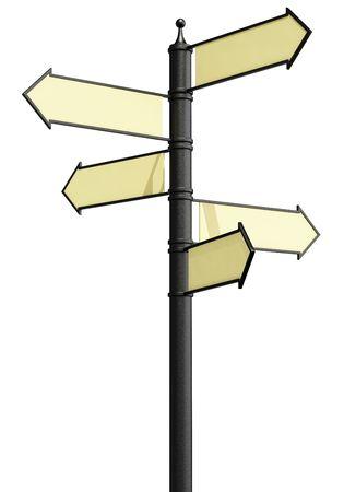 Signpost metal