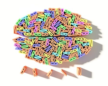 Multi color brain letters