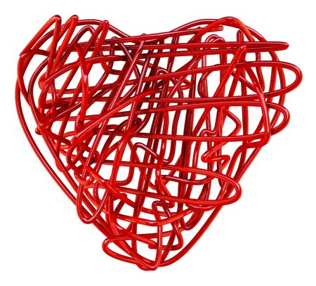 Red wires heart