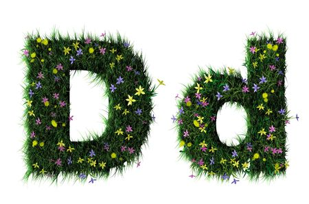 ecologist: Grass and flower letter
